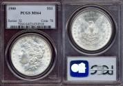 Us Coins - 1900  MORGAN  $1  PCGS   MS64   GEM