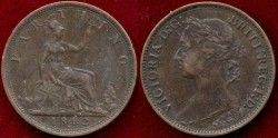World Coins - GREAT BRITAIN 1882-H  FARTHING