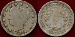 Us Coins - 1912  5c  FINE