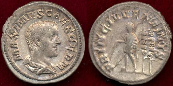Ancient Coins - MAXIMUS  236-238 AD  Denarius
