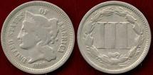 Us Coins - 1866  NICKEL  3c ....  VERY GOOD