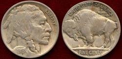 Us Coins - 1918-D BUFFALO 5c VF35  NGC
