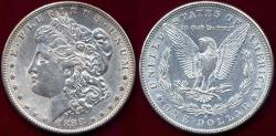 Us Coins - 1888-S MORGAN DOLLAR AU55... close to AU58