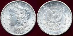 Us Coins - 1902-O MORGAN $1 MS65  WHITE... Strong Strike