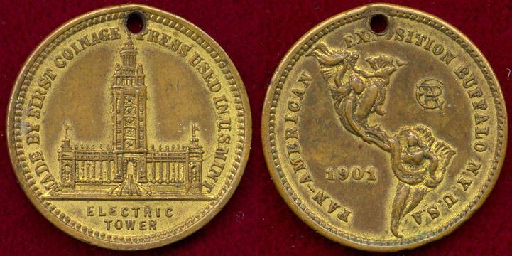 US Coins - 1901 PAN AMERICAN EXPO.. BUFFALO NEW YORK