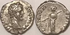 Ancient Coins - Septimius Severus AR (Silver) Denarius--Minerva