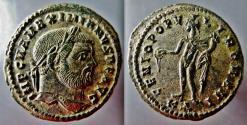 Ancient Coins - Maximian AE Silvered Follis--Superb