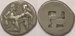 Ancient Coins - Thasos AR (Silver) Stater--Very Nice Archaic Type!