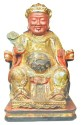 Ancient Coins - Ching Dynasty Large Gilded Wood and Gesso Figure of Ruler