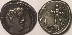 Ancient Coins - L. Titurius L.f. Sabinus AR (Silver) Denarius--Rape of Sabines