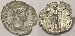 Ancient Coins - Hadrian AR (Silver) Denarius--Superb Strike!