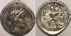 Ancient Coins - Julius Caesar AR (Silver) Denarius