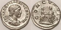 Ancient Coins - Aquilia Severa AR (Silver) Denarius--Superb and Lustrous, Rare Type