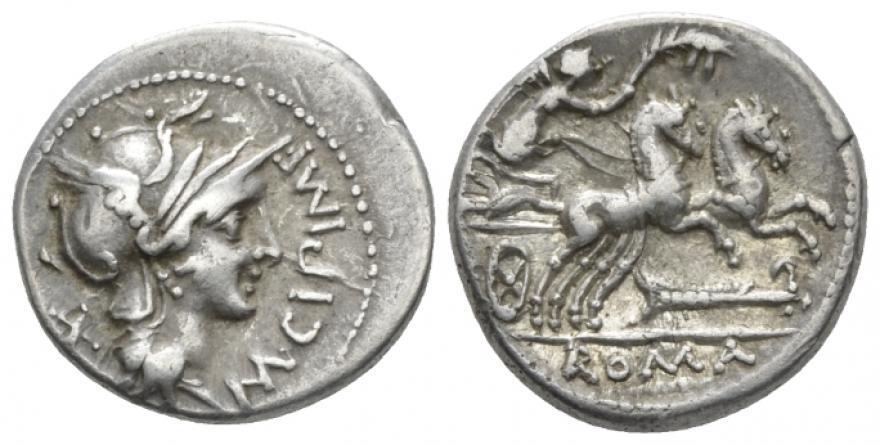 Ancient Coins - M. Cipius AR (Silver) Denarius
