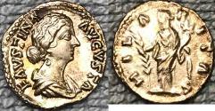 Ancient Coins - Faustina II AR (Silver) Denarius--Nice