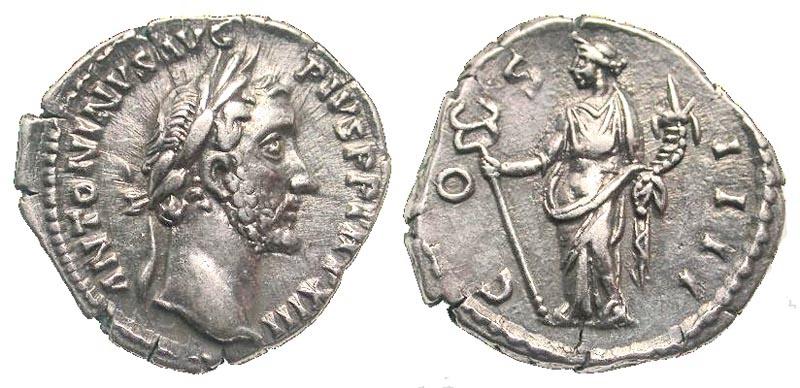 Ancient Coins - Antoninus Pius AR (Silver) Denarius--Superb
