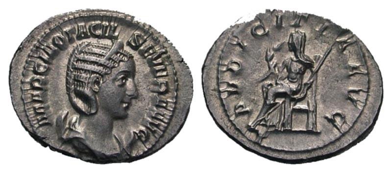Ancient Coins - Otacilia Severa AR (Silver) Antoninianus--Nice
