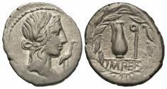 Ancient Coins - Q. Caecilius Metellus Pius AR (Silver) Denarius--Nice