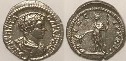 Ancient Coins - Geta AR (Silver) Denarius--Superb and Lustrous