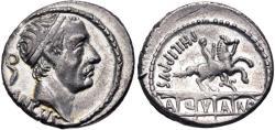 Ancient Coins - L. Marcius Philippus AR (Silver) Denarius--Very Nice