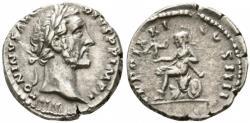 Ancient Coins - Antoninus Pius AR (Silver) Denarius--Nice and Rare Reverse