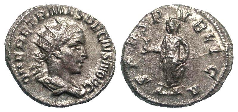 Ancient Coins - Herennius Etruscus AR (Silver) Antoninianus--Scarce