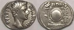 Ancient Coins - Augustus AR (Silver) Denarius--Nice Coin with Scarcer Reverse Type!