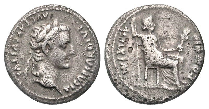 Ancient Coins - Tiberius AR (Silver) Denarius