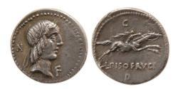 Ancient Coins - L. Calpurnius Piso Frugi AR (Silver) Denarius--Superb and Heavy Coin!