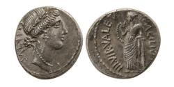 Ancient Coins - Mn. Acilius Glabrio AR (Silver) Denarius--Superb Issue with Light Toning and Golden Hues!