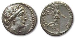 Ancient Coins - L. Hostilius Saserna AR (Silver) Denarius--Scarce and Nice