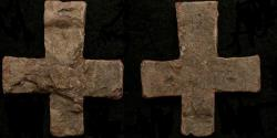 Ancient Coins - Byzantine Lead Cross--Wearable