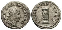 Ancient Coins - Philip I AR (Silver) Antoninianus--Secular Games Issue with Nice Details