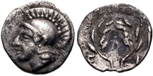 Ancient Coins - Aeolis, Elaia AR (Silver) Hemiobol
