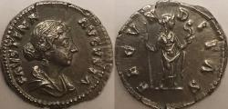 Ancient Coins - Faustina Jr. AR (Silver) Denarius--Well Detailed and Lustrous