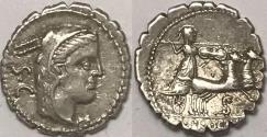 Ancient Coins - L. Procilius L.f. AR (Silver) Denarius--Very Nice!
