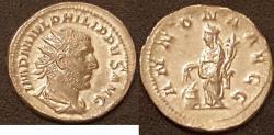 Ancient Coins - Philip I AR (Silver) Antoninianus--Nice