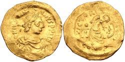 Justinian I AV (Gold) Semissis--Scarcer Denomination