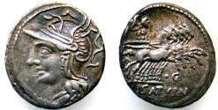 Ancient Coins - Lucius Appuleius Saturninus AR (Silver) Denarius
