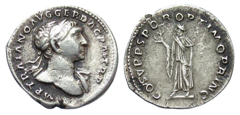 Ancient Coins - Trajan AR (Silver) Denarius