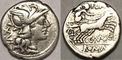 Ancient Coins - C. Valerius C.f. Flaccus AR (Silver) Denarius
