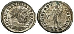 Ancient Coins - Maximianus Silvered Follis--Nice