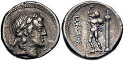 Ancient Coins - L. Censorinus AR (Silver) Denarius--Nicely Detailed and Darkly Toned