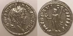 Ancient Coins - Caracalla AR (Silver) Denarius--Very Nice Hercules Type