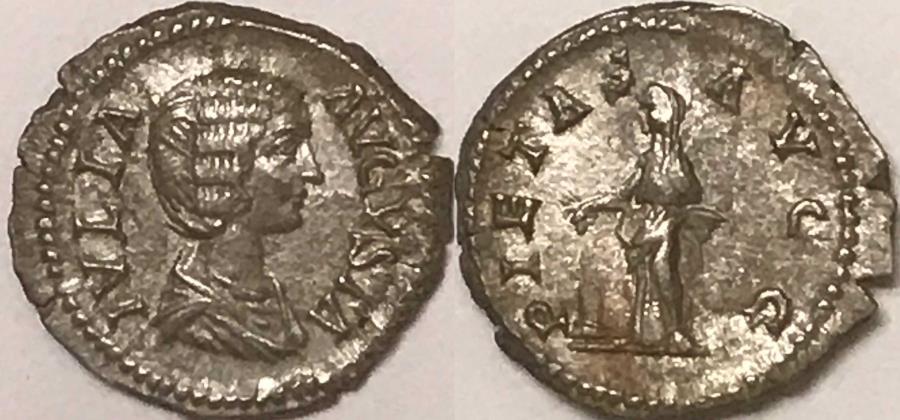 Ancient Coins - Julia Domna AR (Silver) Denarius--Nicely Detailed