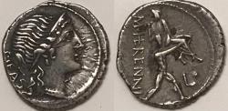Ancient Coins - M. Herennius AR (Silver) Denarius--Nice