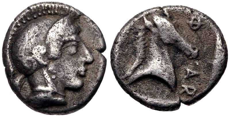 Ancient Coins - THESSALY, Pharsalos AR (Silver) Obol