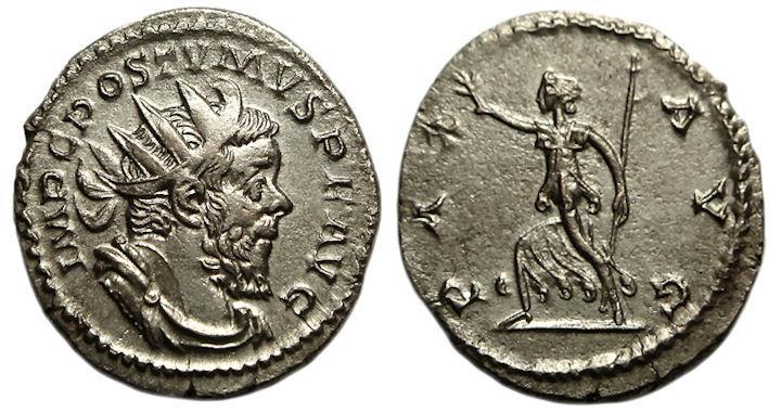 Ancient Coins - Postumus AR (Silver) Antoninianus--Nice