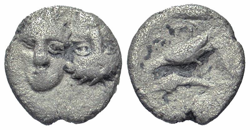 Ancient Coins - Istros AR (Silver) 1/12 stater (hemiobol)--Scarce denomination
