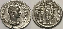 Ancient Coins - Diadumenian AR (Silver) Denarius--Excellent Details and Metal!
